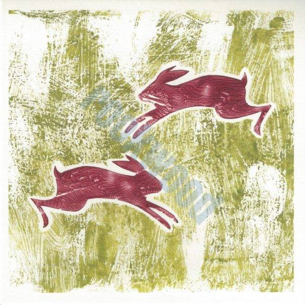 Leaping Green Tussocks Greeting Card