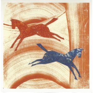 Prancing Horses Greeting Card